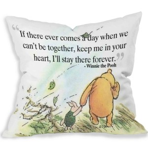 """Winnie the Pooh"" Throw Pillow Covers 18"" x 18"""