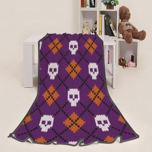 """""""Halloween Design Skull Pic"""" Blanket 39""""x50"""""""
