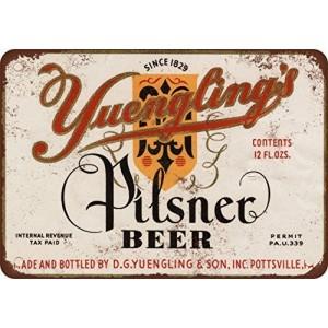 """""""Yuengling's Pilsner"""" Metal Tin Sign"""