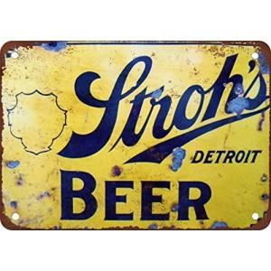 """Stroh's Beer"" Metal Tin Sign"