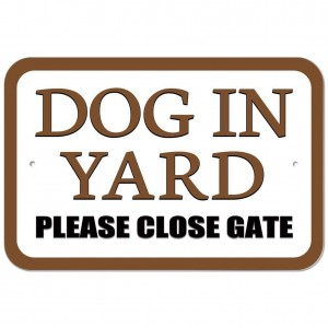 """Dog in Yard"" Car Licence Plate Frame"