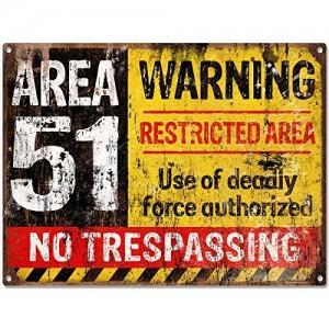 """Area 51"" VintageMetal Sign Aluminum Signs"