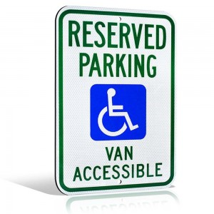 """Reserved Parking Van Accessible"" Metal Sign"