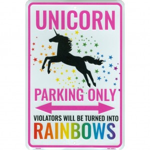"""Unicorn Parking"" Car Licence Plate Frame"