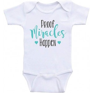 """Proof Miracles Happen"" Infant One-Piece Bodysuit Romper Best Gift for Baby, White, 0–3M"