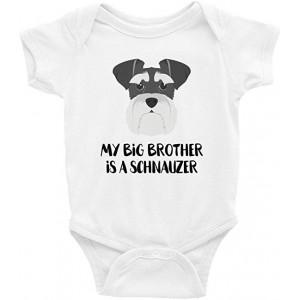 """Schnauzer"" Infant One-Piece Bodysuit Romper Best Gift for Baby, White, 0–3M"