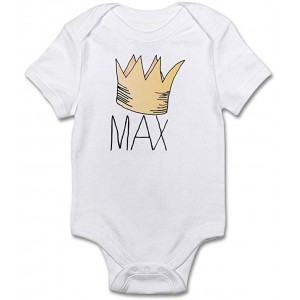 """Crown"" Infant One-Piece Bodysuit Romper Best Gift for Baby, White, 0–3M"