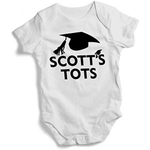"""Scott's Tots"" Infant One-Piece Bodysuit Romper Best Gift for Baby, White, 0–3M"