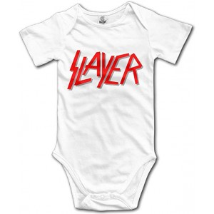 """Slayer"" Infant One-Piece Bodysuit Romper Best Gift for Baby, White, 0–3M"