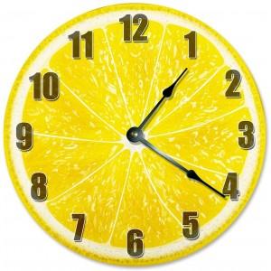 """Lomen""""Yellow"" Wall Clock, Round"