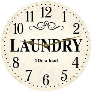 """""""British""""""""Laundry"""" Wall Clock,Round"""