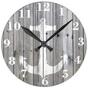 """Anchor""""Grey"" Wall Clock,Round"