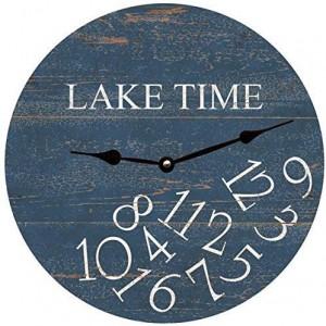 """Lake""""Deep Blue"" Wall Clock,Round"
