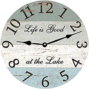 """Life is good"" Wall Clock,Round"