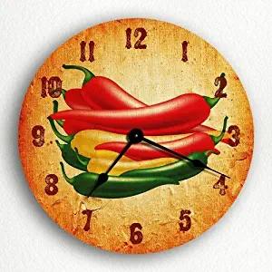 """""""Chili"""" Wall Clock, Round"""