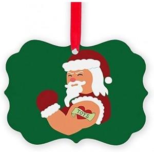 """Santa Claus""""Toys"" Acrylic Keepsake Ornament, Double Side, 2.75""×3.94"""