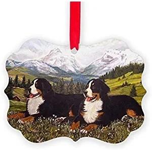 """Mountain""""Grassland""""Dog"" Acrylic Keepsake Ornament, Double Side, 2.75""×3.94"""