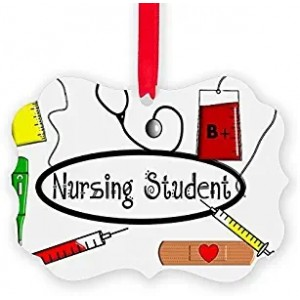 """Nursing Student"" Acrylic Keepsake Ornament, 2.75""×3.94"""