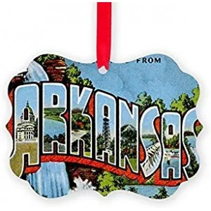 """Arkansas"" Acrylic Keepsake Ornament, Double Side, 2.75""×3.94"""