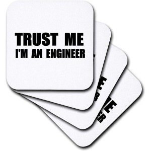 """Trust Me"" Ceramic Tile Coasters, Set of 4 ,3.5"""