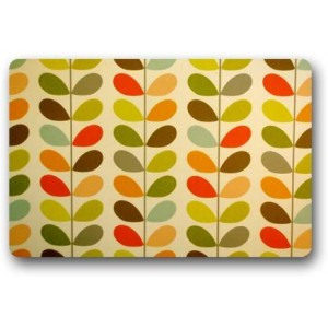 """Leaf"" Rubber Doormat, Rectangle, 23.6""x 15.7"""