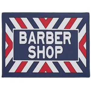 """Hair""""Barber Shop"" Rubber Doormat, Rectangle, 23.6""x 15.7"""