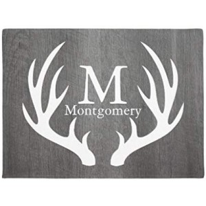 """Montgomery""""Deer"" Rubber Doormat, Rectangle, 23.62""×15.75"""
