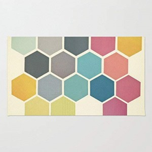 """Honeycomb"" Rubber Doormat, Rectangle, 23.6""x 15.7"""