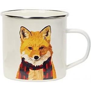 """FOX"" Metal Enamel Cup , 10oz"