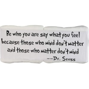 """BE WHO YOU ARE SAY WHAT YOU Feel"" Vinyl Decal Sticker, 21""×24"""