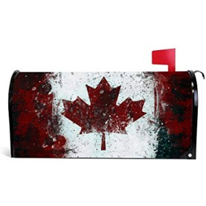 """""""Canada"""" """"Maple Leaf"""" Mailbox Cover Water-Proof Post, 21""""x18"""""""