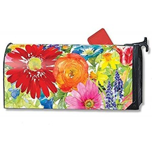 """""""SPLASH OF COLOR"""" Mailbox Cover Water-Proof Post, 21""""x18"""""""