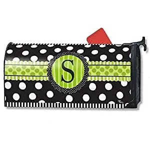 """""""Monogram 's'"""" Mailbox Cover Water-Proof Post, 21""""x18"""""""