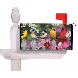 """""""Birds"""" Mailbox Cover Water-Proof Post,21""""x18"""""""