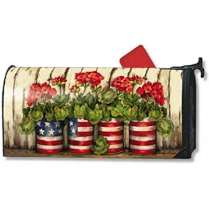 """""""Garden"""" Mailbox Cover Water-Proof Post, 21""""x18"""""""