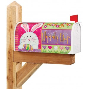 """""""Hippity Hop"""" """"Rabbit"""" Mailbox Cover Water-Proof Post, 21""""x18"""""""