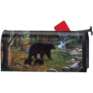 """""""Forest"""" """"Bear"""" Mailbox Cover Water-Proof Post, 21""""x18"""""""