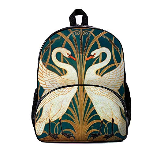 """""""Red-crowned"""" Backpack School Bag with small front pocket For Boys And Girls, 7.08""""x13""""x15.7"""""""