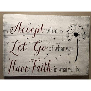 """Inspirational""""Dandelion"" Wood Sign, 15.75""×19.69"""