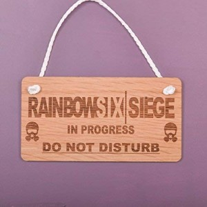"""Rainbow Six"" Wood Sign,5.9""×11.8"""