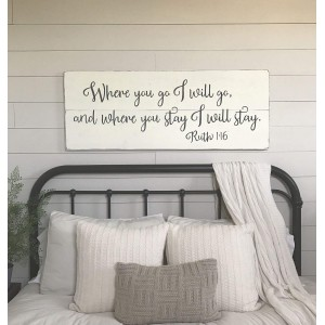 """Bedroom"" Wood Sign, 9.84""×25"""