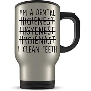 """Teeth"" ""Dentist"" Mechanic Coffee Cup, Travel Mug, 14 Oz"