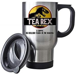 """Tea Rex"" Mechanic Coffee Cup, Travel Mug, 14 Oz"