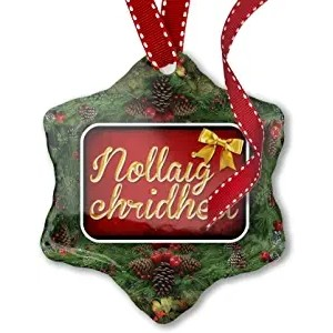 Christmas Ornament Merry Christmas in Scottish Gaelic from Scotland - Neonblond