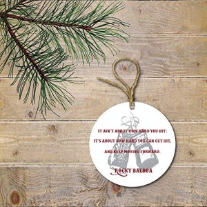 """Boxing"" Ornament round porcelain Christmas Decoration"