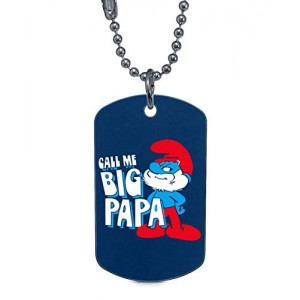"""Smurfs"" Rectangle Dog Tag Necklaces Pet ID Tag"