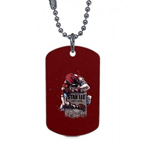 """TAMPSHOP R.I.P. Stan Lee"" Rectangle Dog Tag Necklaces Pet ID Tag"