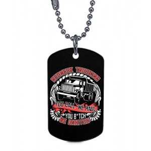 """Redneck Trucking ""Rectangle Dog Tag Necklaces Pet ID Tag"