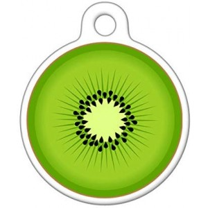 """Kiwi""Round DogTag Necklaces, Pet ID Tag"