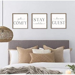 """Comfy Stay Guest"" Personalized Framed Wood Sign"